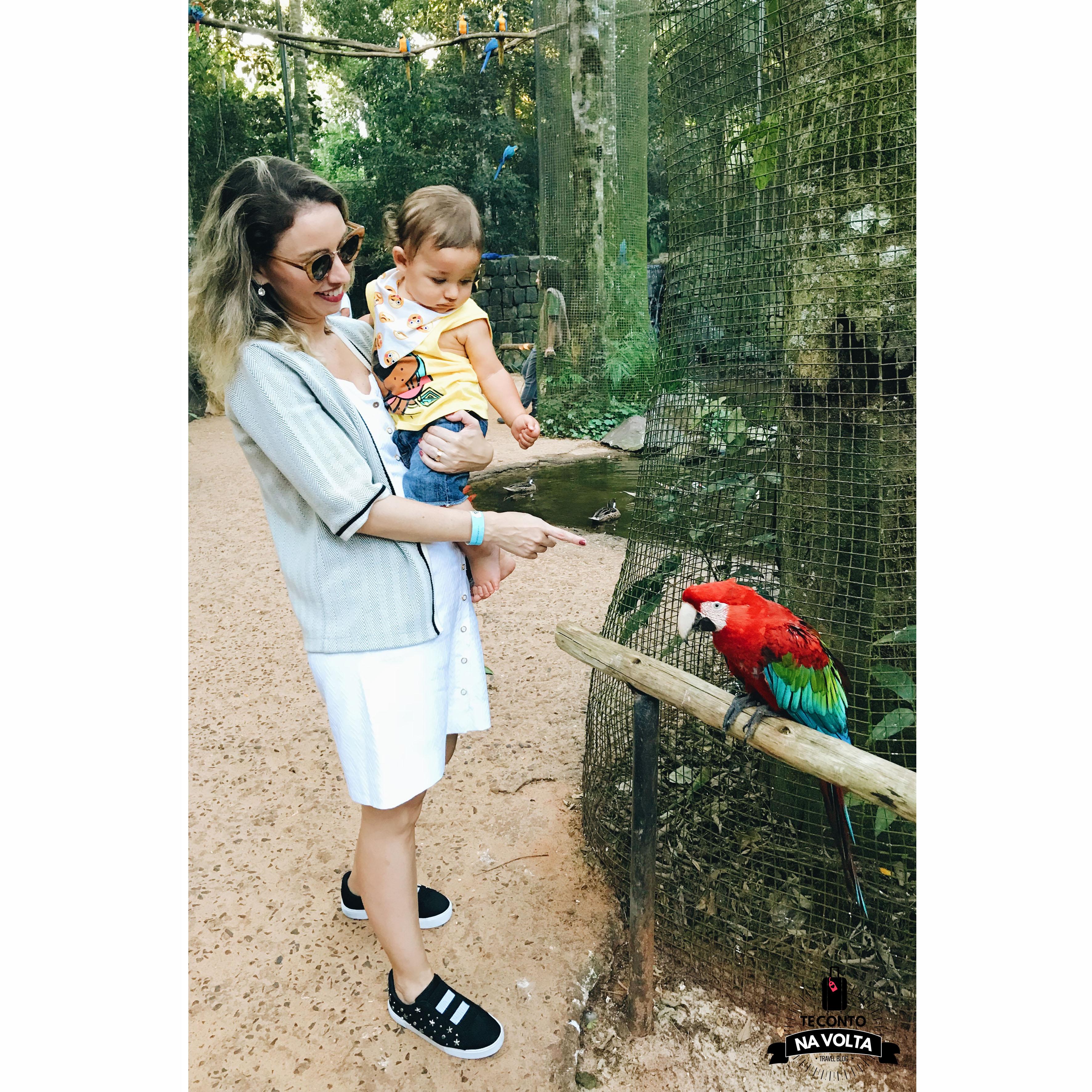 Parque das Aves com bebês